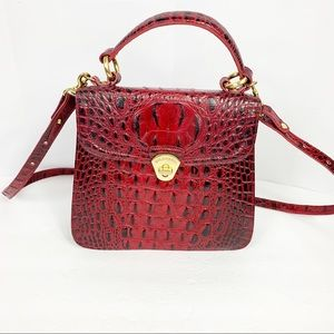 Red Burgundy Brahmin purse